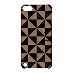 Triangle1 Black Marble & Brown Colored Pencil Apple Ipod Touch 5 Hardshell Case With Stand by trendistuff