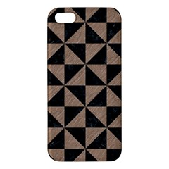 Triangle1 Black Marble & Brown Colored Pencil Apple Iphone 5 Premium Hardshell Case by trendistuff