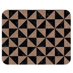 Triangle1 Black Marble & Brown Colored Pencil Double Sided Flano Blanket (medium) by trendistuff