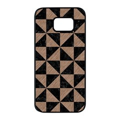 Triangle1 Black Marble & Brown Colored Pencil Samsung Galaxy S7 Edge Black Seamless Case by trendistuff