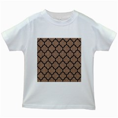 Tile1 Black Marble & Brown Colored Pencil (r) Kids White T Shirt by trendistuff