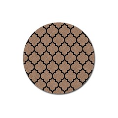 Tile1 Black Marble & Brown Colored Pencil (r) Magnet 3  (round) by trendistuff