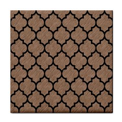 Tile1 Black Marble & Brown Colored Pencil (r) Face Towel