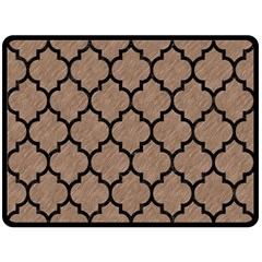 Tile1 Black Marble & Brown Colored Pencil (r) Fleece Blanket (large) by trendistuff