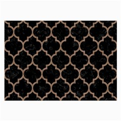 Tile1 Black Marble & Brown Colored Pencil Large Glasses Cloth (2 Sides) by trendistuff