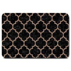 Tile1 Black Marble & Brown Colored Pencil Large Doormat by trendistuff