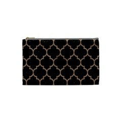Tile1 Black Marble & Brown Colored Pencil Cosmetic Bag (small) by trendistuff