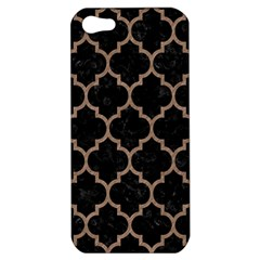 Tile1 Black Marble & Brown Colored Pencil Apple Iphone 5 Hardshell Case by trendistuff