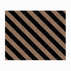 Stripes3 Black Marble & Brown Colored Pencil (r) Small Glasses Cloth by trendistuff