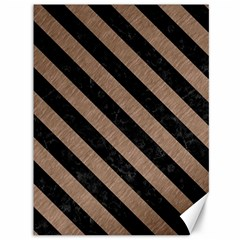 Stripes3 Black Marble & Brown Colored Pencil (r) Canvas 36  X 48  by trendistuff