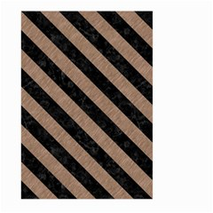 Stripes3 Black Marble & Brown Colored Pencil (r) Large Garden Flag (two Sides) by trendistuff