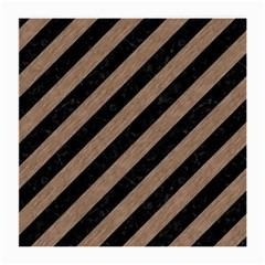 Stripes3 Black Marble & Brown Colored Pencil Medium Glasses Cloth by trendistuff