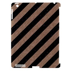 Stripes3 Black Marble & Brown Colored Pencil Apple Ipad 3/4 Hardshell Case (compatible With Smart Cover) by trendistuff