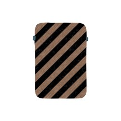 Stripes3 Black Marble & Brown Colored Pencil Apple Ipad Mini Protective Soft Case by trendistuff