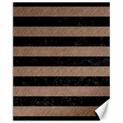 Stripes2 Black Marble & Brown Colored Pencil Canvas 16  X 20  by trendistuff