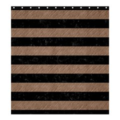 Stripes2 Black Marble & Brown Colored Pencil Shower Curtain 66  X 72  (large) by trendistuff