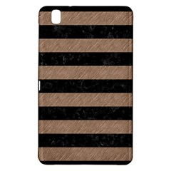 Stripes2 Black Marble & Brown Colored Pencil Samsung Galaxy Tab Pro 8 4 Hardshell Case by trendistuff