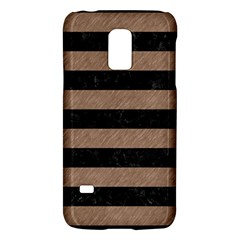 Stripes2 Black Marble & Brown Colored Pencil Samsung Galaxy S5 Mini Hardshell Case  by trendistuff
