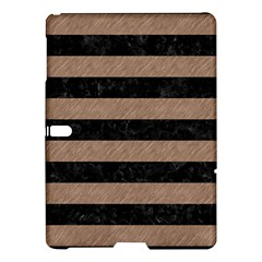Stripes2 Black Marble & Brown Colored Pencil Samsung Galaxy Tab S (10 5 ) Hardshell Case  by trendistuff