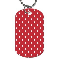 Red Polka Dots Dog Tag (one Side) by LokisStuffnMore