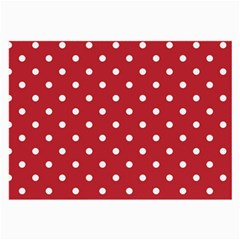 Red Polka Dots Large Glasses Cloth by LokisStuffnMore