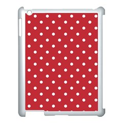 Red Polka Dots Apple Ipad 3/4 Case (white) by LokisStuffnMore