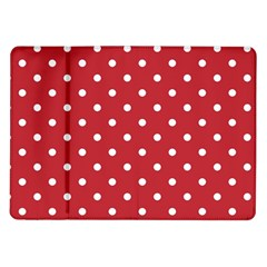 Red Polka Dots Samsung Galaxy Tab 10 1  P7500 Flip Case by LokisStuffnMore