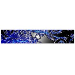 Blue Silver Swirls Flano Scarf (large)