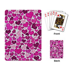 Sparkling Hearts Pink Playing Card by MoreColorsinLife