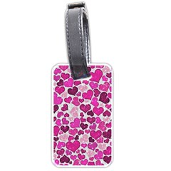 Sparkling Hearts Pink Luggage Tags (one Side)  by MoreColorsinLife