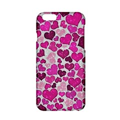 Sparkling Hearts Pink Apple Iphone 6/6s Hardshell Case by MoreColorsinLife