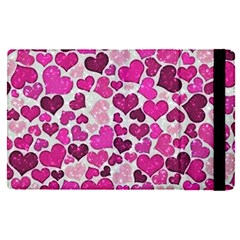 Sparkling Hearts Pink Apple Ipad Pro 9 7   Flip Case by MoreColorsinLife