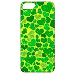 Sparkling Hearts, Green Apple Iphone 5 Classic Hardshell Case by MoreColorsinLife