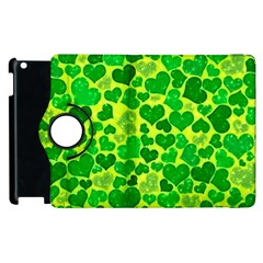 Sparkling Hearts, Green Apple Ipad 2 Flip 360 Case by MoreColorsinLife