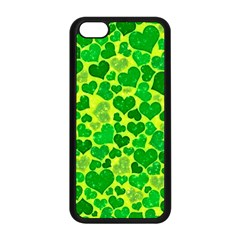 Sparkling Hearts, Green Apple Iphone 5c Seamless Case (black) by MoreColorsinLife