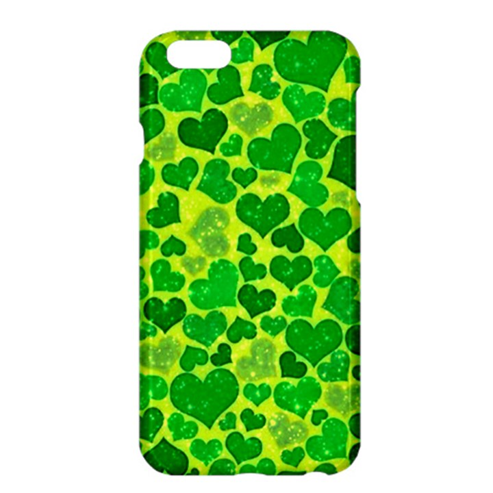 Sparkling Hearts, Green Apple iPhone 6 Plus/6S Plus Hardshell Case