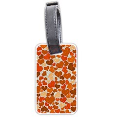 Sparkling Hearts,orange Luggage Tags (two Sides) by MoreColorsinLife