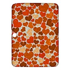Sparkling Hearts,orange Samsung Galaxy Tab 3 (10 1 ) P5200 Hardshell Case  by MoreColorsinLife