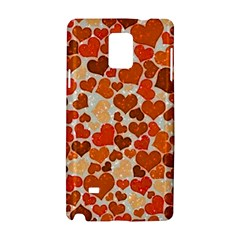 Sparkling Hearts,orange Samsung Galaxy Note 4 Hardshell Case by MoreColorsinLife