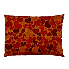 Sparkling Hearts,deep Red Pillow Case (two Sides) by MoreColorsinLife