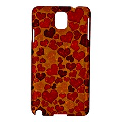 Sparkling Hearts,deep Red Samsung Galaxy Note 3 N9005 Hardshell Case by MoreColorsinLife