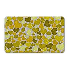 Sparkling Hearts,yellow Magnet (rectangular) by MoreColorsinLife
