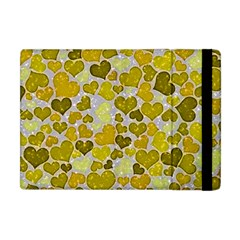 Sparkling Hearts,yellow Apple Ipad Mini Flip Case by MoreColorsinLife