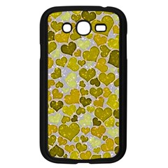 Sparkling Hearts,yellow Samsung Galaxy Grand Duos I9082 Case (black)