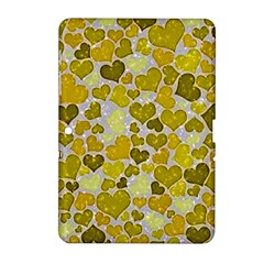 Sparkling Hearts,yellow Samsung Galaxy Tab 2 (10 1 ) P5100 Hardshell Case  by MoreColorsinLife