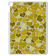 Sparkling Hearts,yellow Apple Ipad Pro 9 7   White Seamless Case by MoreColorsinLife