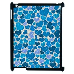 Sparkling Hearts, Teal Apple Ipad 2 Case (black) by MoreColorsinLife