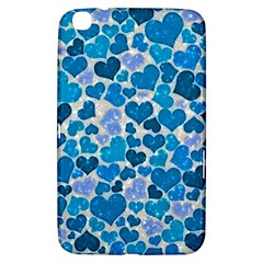 Sparkling Hearts, Teal Samsung Galaxy Tab 3 (8 ) T3100 Hardshell Case  by MoreColorsinLife