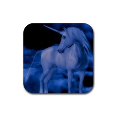Magical Unicorn Rubber Square Coaster (4 Pack)  by KAllan