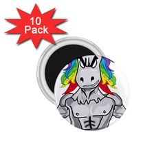 Angry Unicorn 1 75  Magnets (10 Pack)  by KAllan